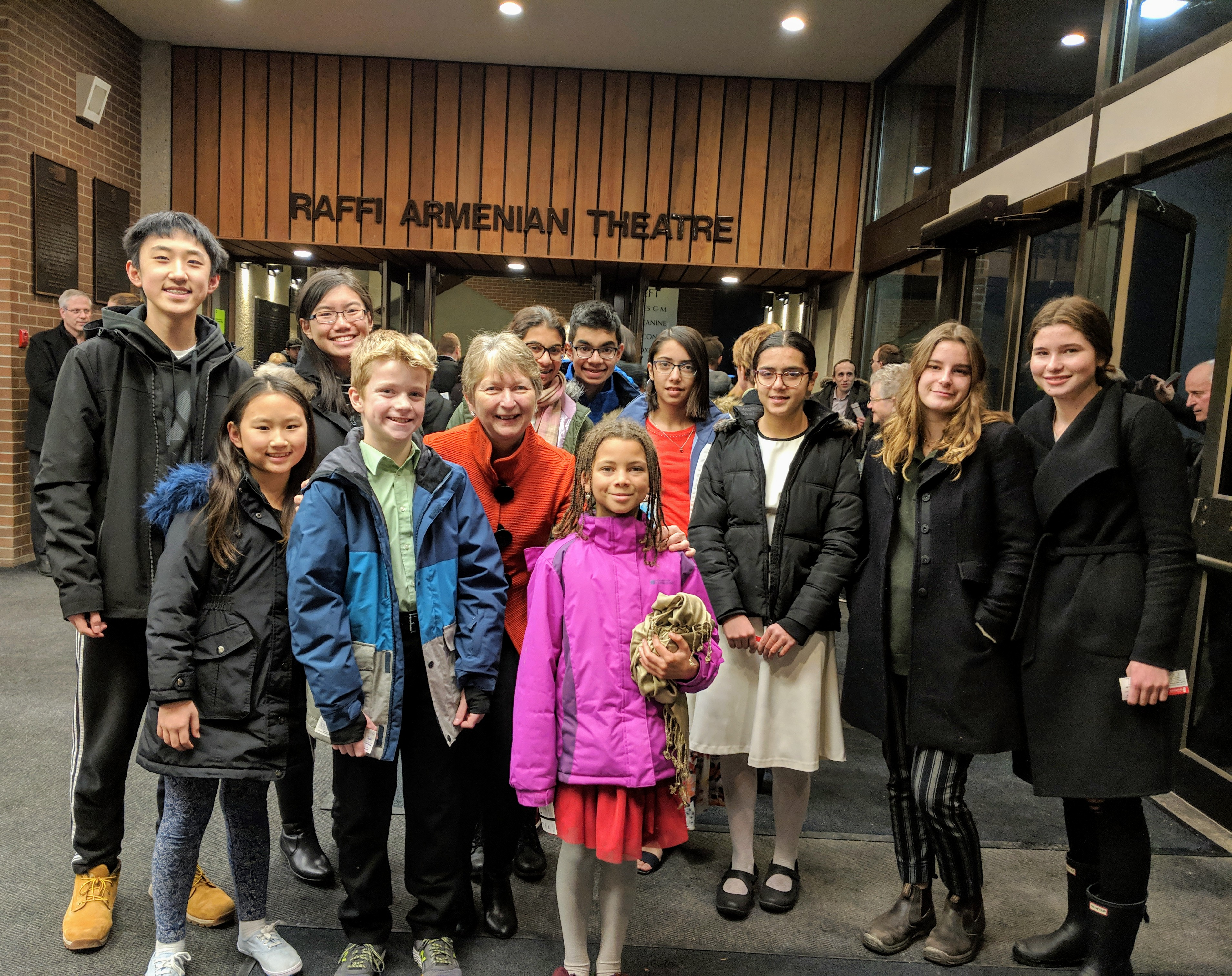 2018-12-14.Group outing with my students to the KWSO Yuletide Spectacular